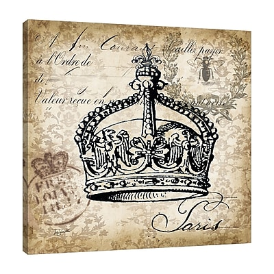 Ophelia & Co. 'Crown' Graphic Art Print on Wrapped Canvas; 18'' H x 18'' W