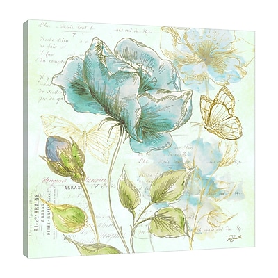 Ophelia & Co. 'Watercolor Flower Sketch' Graphic Art Print on Wrapped Canvas; 36'' H x 36'' W