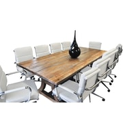 Latitude Run Exaucet 11 Piece Exaucet 8' Rectangular Conference Table Set; White