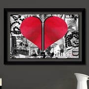 Latitude Run 'Love Hurts' Framed Graphic Art Print; 27.5'' H x 39.5'' W