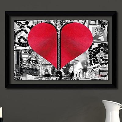 Latitude Run 'Love Hurts' Framed Graphic Art Print; 27.5'' H x 39.5'' W