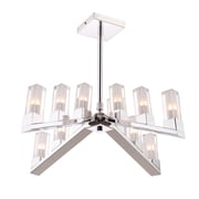 Orren Ellis Bhavna 12-Light Candle-Style Chandelier