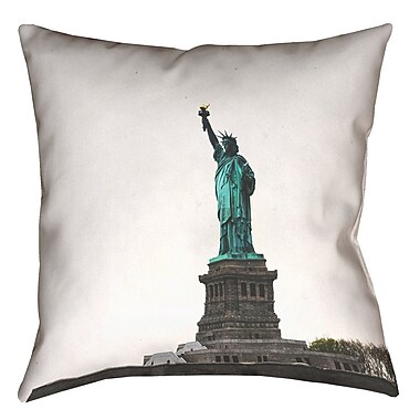 East Urban Home Statue of Liberty Outdoor Throw Pillow; 18'' x 18''