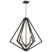 Corrigan Studio Greggory 6-Light Candle-Style Chandelier; Bronze