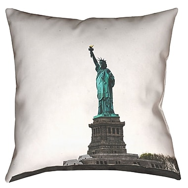 East Urban Home Statue of Liberty Double Sided Print Pillow Cover w/ Down Alternative; 20'' x 20''