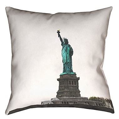 East Urban Home Statue of Liberty Throw Pillow; 16'' x 16''