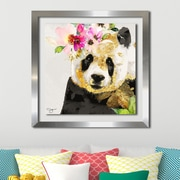 Ivy Bronx 'Panda' Framed Graphic Art Print; 27.5'' H x 27.5'' W