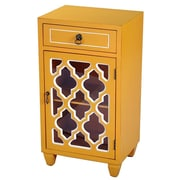 Heather Ann Accent Cabinet; Yellow