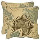 Highland Dunes Royce Outdoor Throw Pillow (Set of 2); 16'' x 16''