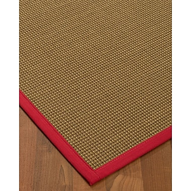 Bayou Breeze Asther Sisal Red Area Rug; 2' X 3'