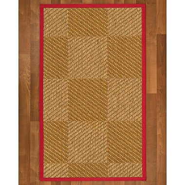 Bayou Breeze Adley Sisal Red Area Rug; 2' X 3'