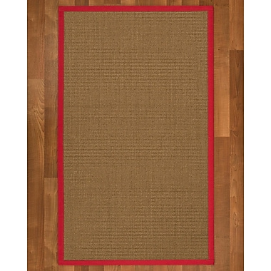 Bay Isle Home Jamesville Sisal Red Area Rug; 9' X 12'