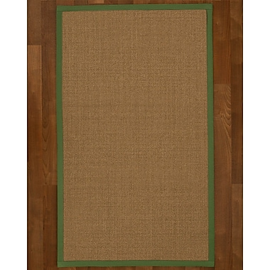 Bay Isle Home Jamesville Sisal Green Area Rug; 6' X 9'