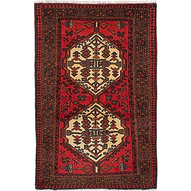 Bloomsbury Market Roth Traditional Hand-Knotted Wool Rectangular Red Indoor Area Rug