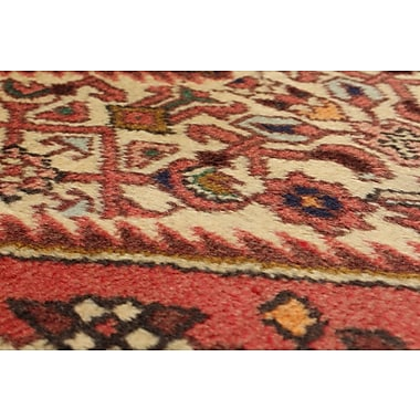 Bloomsbury Market Roth Hand-Knotted Wool Cream/Dark Copper Indoor Area Rug