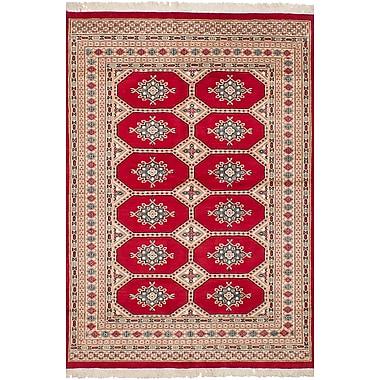 Bloomsbury Market Onondaga Hand-Knotted 100pct Wool Rectangular Red Indoor Area Rug