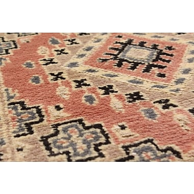Bloomsbury Market Onondaga Hand-Knotted Wool Copper Geometric Indoor Area Rug