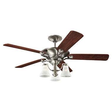 Darby Home Co 52'' Selina 3 Blade Fan; Antique Brushed Nickel