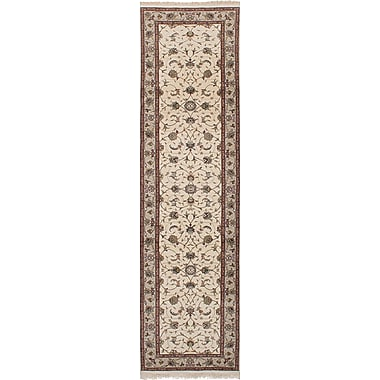 Darby Home Co Lacefield Hand-Knotted Cream Indoor Area Rug