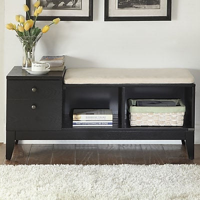 Latitude Run Auston Wood Storage Bench