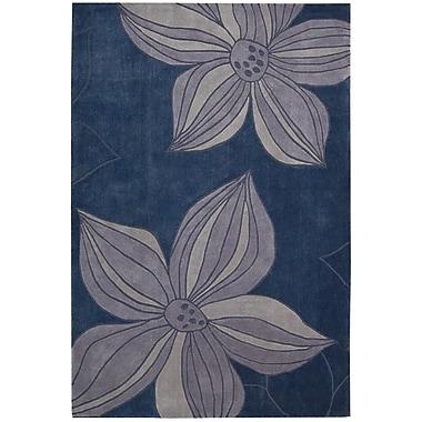 Harriet Bee Gideon Hand-Tufted Blue Area Rug; 3'6'' x 5'6''