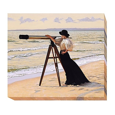 Highland Dunes 'Outlook' Oil Painting Print on Wrapped Canvas; 21 in. H x 24 in. W