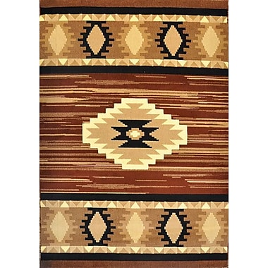 Loon Peak Elowen Brown Area Rug; Runner 2'7'' x 14'6''