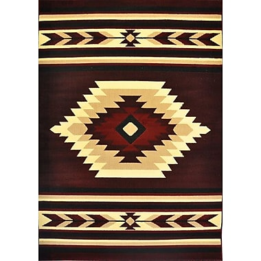 Loon Peak Elton Burgundy Area Rug; 5'3'' x 7'2''