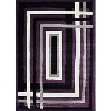 Orren Ellis Clayborne Purple Area Rug; 5'3'' x 7'2''
