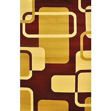 Orren Ellis Baris Burgundy Area Rug; 7'11'' x 9'10''