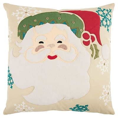 The Holiday Aisle Holiday Santa Clause 100pct Cotton Throw Pillow
