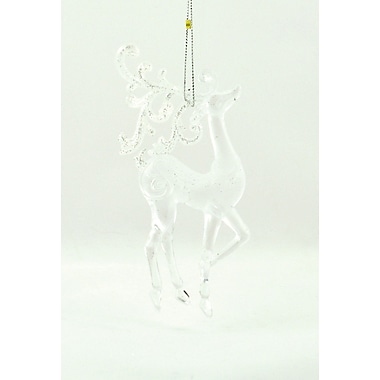 The Holiday Aisle Clear Reindeer Shaped Ornament (Set of 6)
