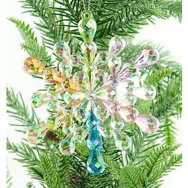 The Holiday Aisle Acrylic Snowflake Tree Topper (Set of 2)