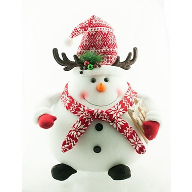 The Holiday Aisle 18'' Standing Snowman w/ Hat