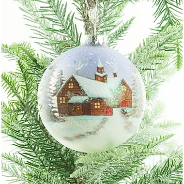 The Holiday Aisle Scenic House Ball Ornament (Set of 2)