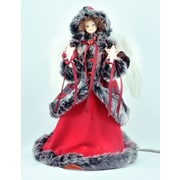 The Holiday Aisle Red/Black Angel Tree Topper