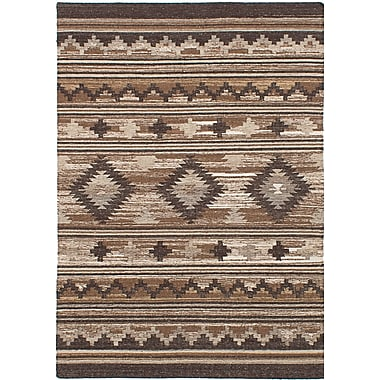 Union Rustic McPhail Hand-Woven Wool Brown Indoor Area Rug