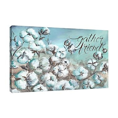 Winston Porter 'Cotton Boll Field: Gather Friends' Graphic Art Print on Wrapped Canvas