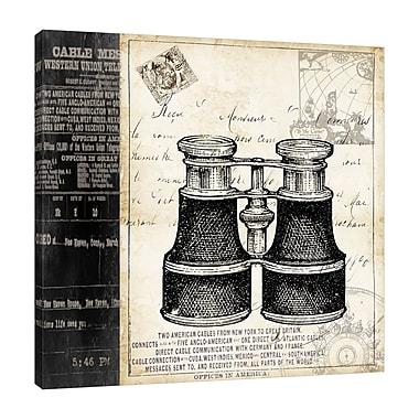 Winston Porter 'Paris Binoculars' Graphic Art Print on Wrapped Canvas; 12'' H x 12'' W