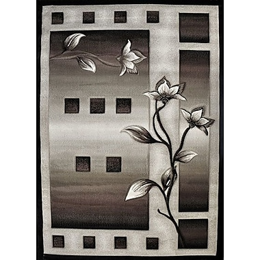 Ebern Designs Fiona Black Area Rug; Runner 2'7'' x 7'2''