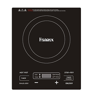Hannex ICAT181B Portable Induction Cooker 1800W, Black (ICAT181B)