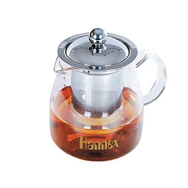 Hannex - Récipient pour thé T-501G résistant à la chaleur, 500 ml, transparent