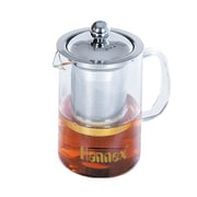 Hannex T-502G Heat-Resistant Glass Art Tea Cup 500ml, Crystal Clear (T-502G)