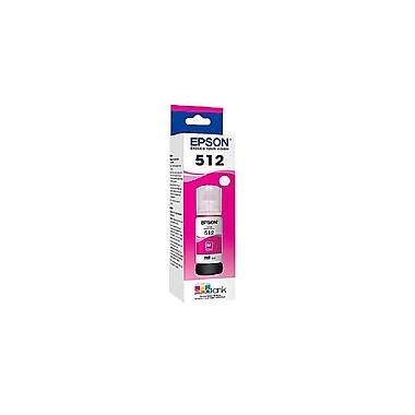 Epson – Bouteille d'encre magenta T512 à base de colorants avec Sensormatic (T512320-S)