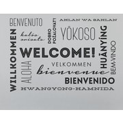 Wallums Wall Decor Welcome Words Wall Decal; Black