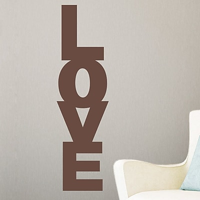 Wallums Wall Decor Stack of Love Wall Decal; Chocolate Brown