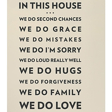 Wallums Wall Decor In This House We Do Love Wall Decal; Black