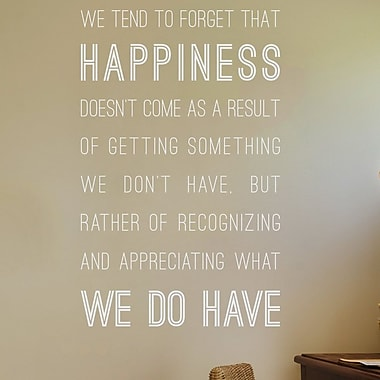 Wallums Wall Decor Happiness We Do Have Wall Decal; White