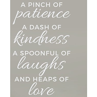 Wallums Wall Decor Pinch of Patience Wall Decal; White