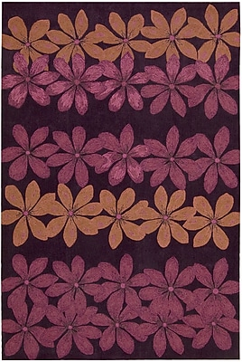 Zoomie Kids Dominey Hand-Tufted Plum Area Rug; 3'6'' x 5'6''